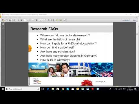 How to find a PhD Guide in Germany?